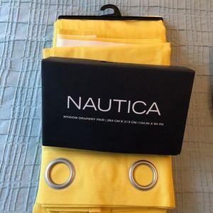 Nautica Yellow Cabana Striped Curtains